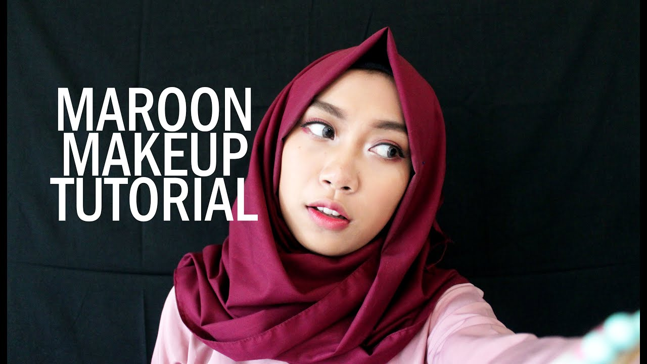 Maroon Makeup Tutorial Atami Puspa 3 Youtube