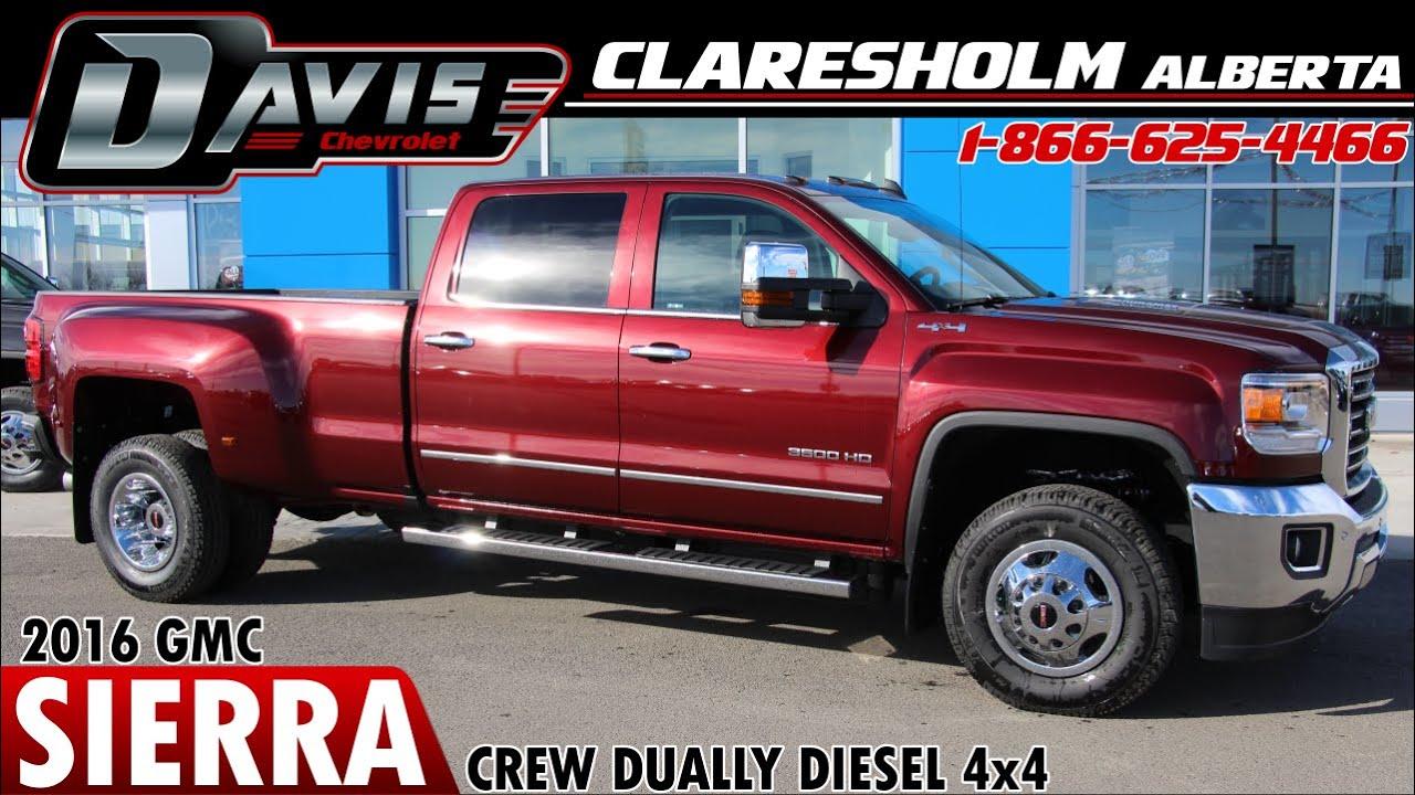 New 2016 Red Gmc 3500hd Diesel Dually Davis Claresholm