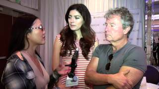 John Savage and Blanca Blanco on Star Trek at Secret Room Events Golden Globes Style Lounge