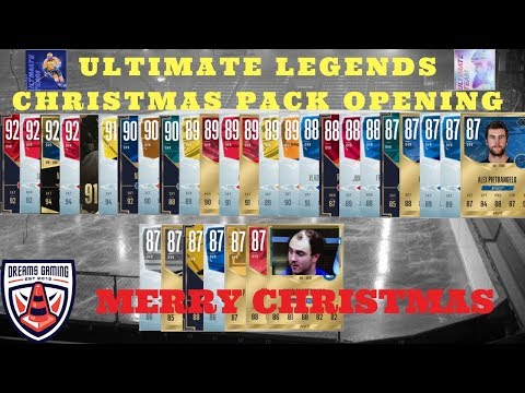 NHL 18 - HUT - 15 Pack ULTIMATE LEGENDS Christmas Day Pack Opening - 9 90+ Pulls - Ovi?
