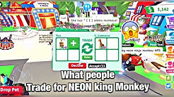 What People Trade For NEON King Monkey😱| Roblox | Adopt Me | MrRich