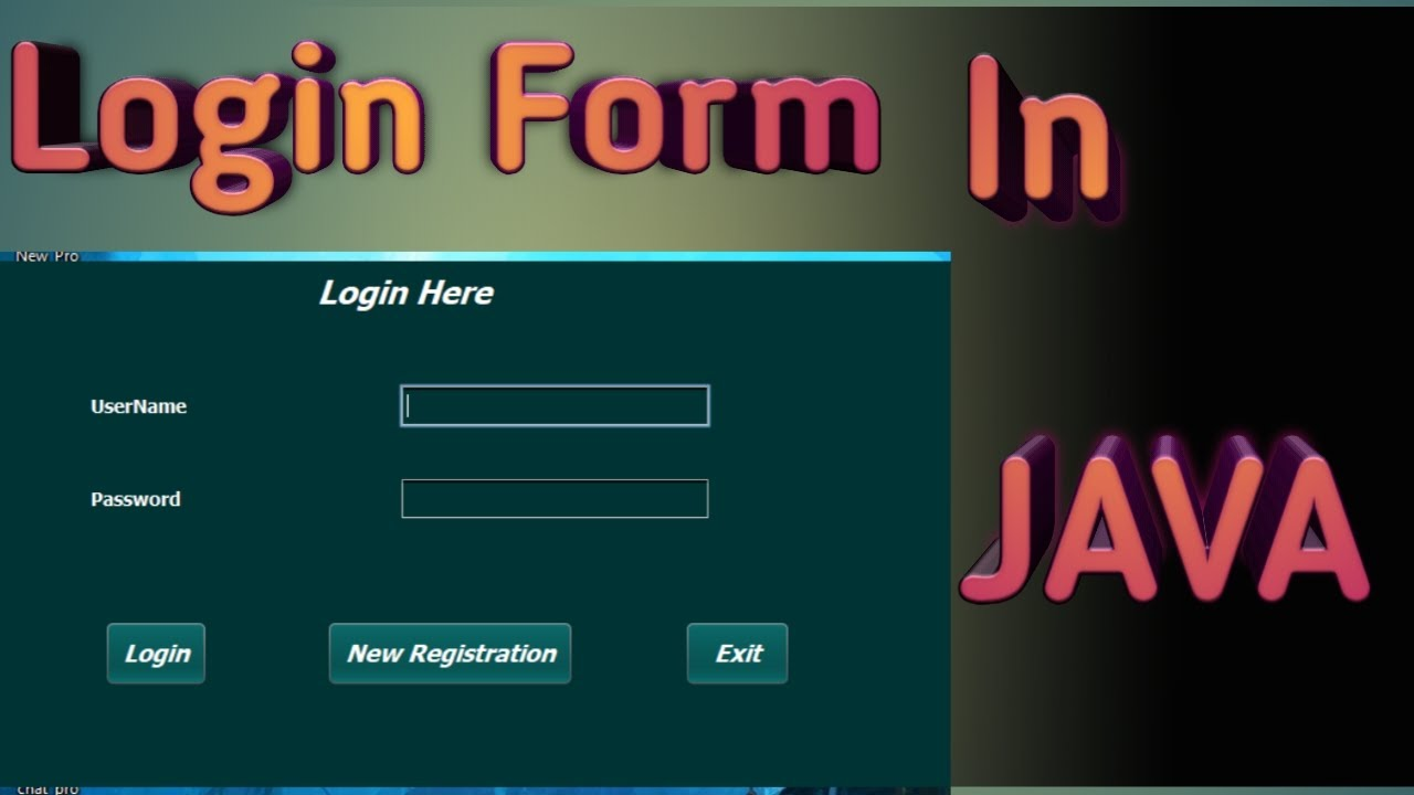 how to create login form in java  youtube
