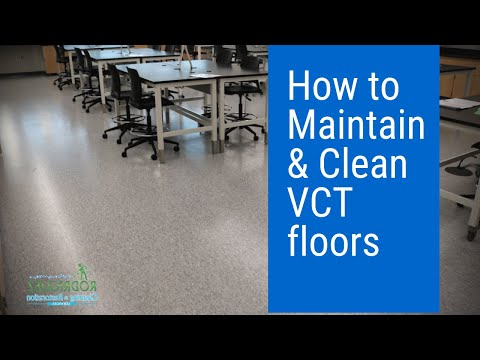 How to maintain and clean VCT flooring.