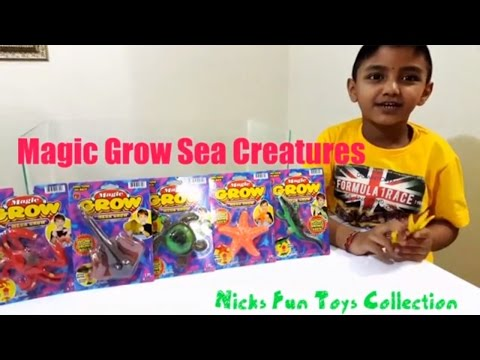 SUPER GROWING SEA CREATURES by Nicks Fun Toys Collection