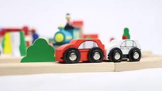 100 Pc. Wooden Train Set   Imagination Generation   Natural Wooden Kits Toys 2019