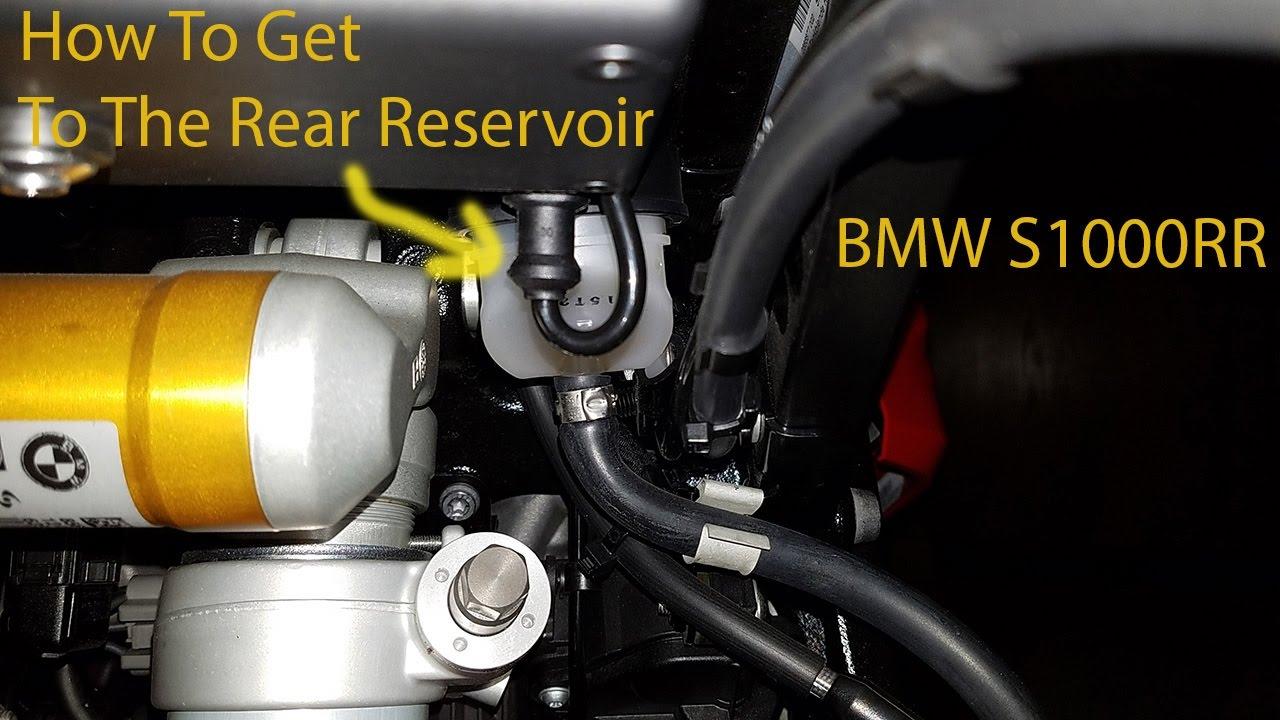 get to rear brake reservoir to bleed change fluid youtube. Black Bedroom Furniture Sets. Home Design Ideas