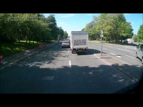 This Van diver idiot has no time to wait in traffic, reg DK62 WDW