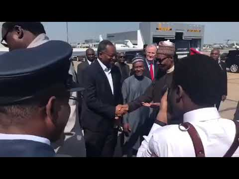 President Muhammadu Buhari Departs London For Abuja (Watch Video)