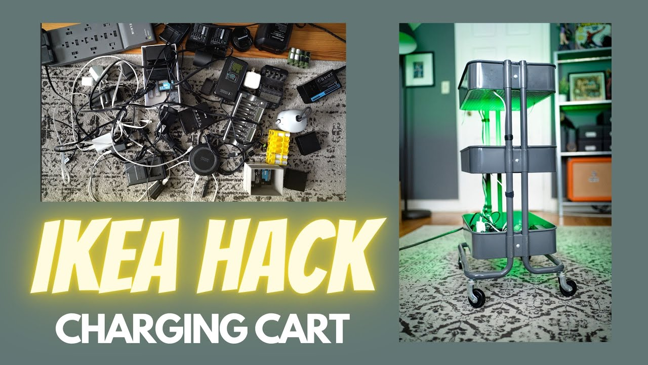 I made a charging station from an IKEA cart!