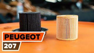 Kako zamenjati oljni filter in motorna olja na PEUGEOT 207 [VIDEO VODNIK AUTODOC]