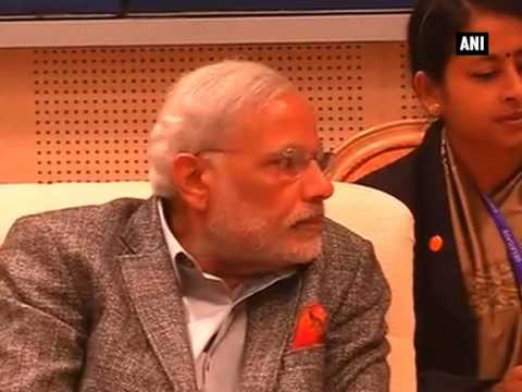 PM Modi meets Indian community at Hyundai Heavy Industries shipyard in South Korea