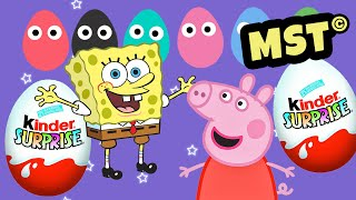Peppa Pig Kinder Surprise eggs Play Doh Spongebob [MST]