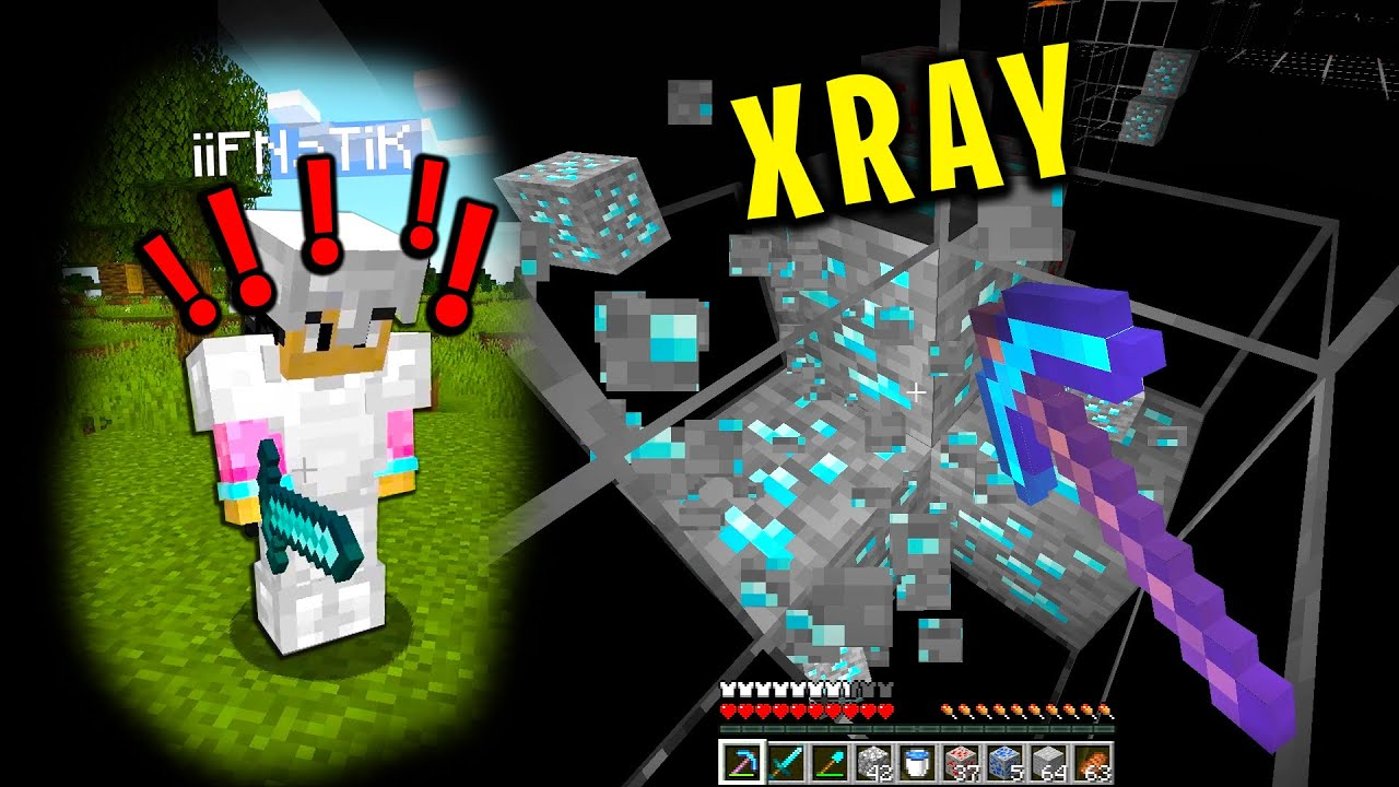 Download Trolling my minecraft friend with xray