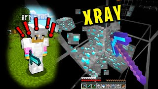 Trolling my minecraft friend with xray