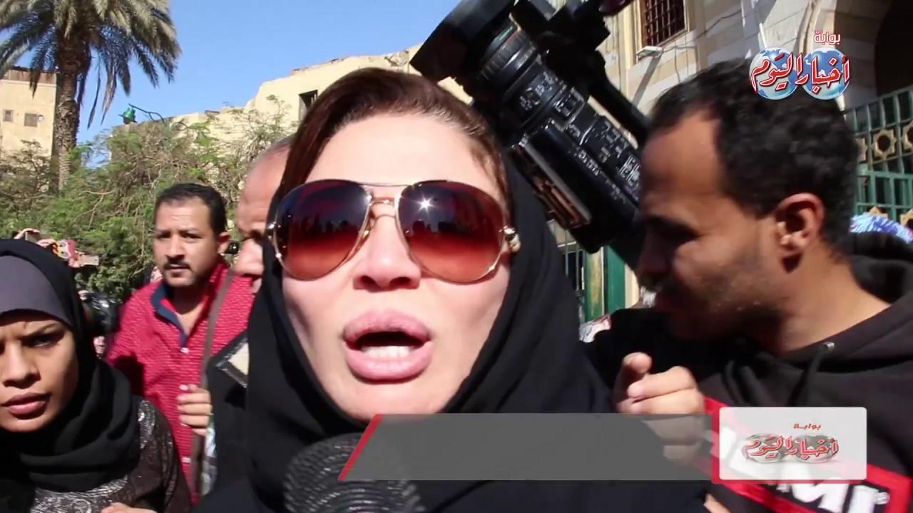 أخبار اليوم | الفنانة إلهام شاهين تنفعل بعد تقديم نعيها للفنانة شادية