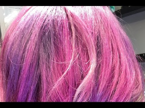 Purple, Pink, Silver Ombre' Hair (Hair Tutorial)