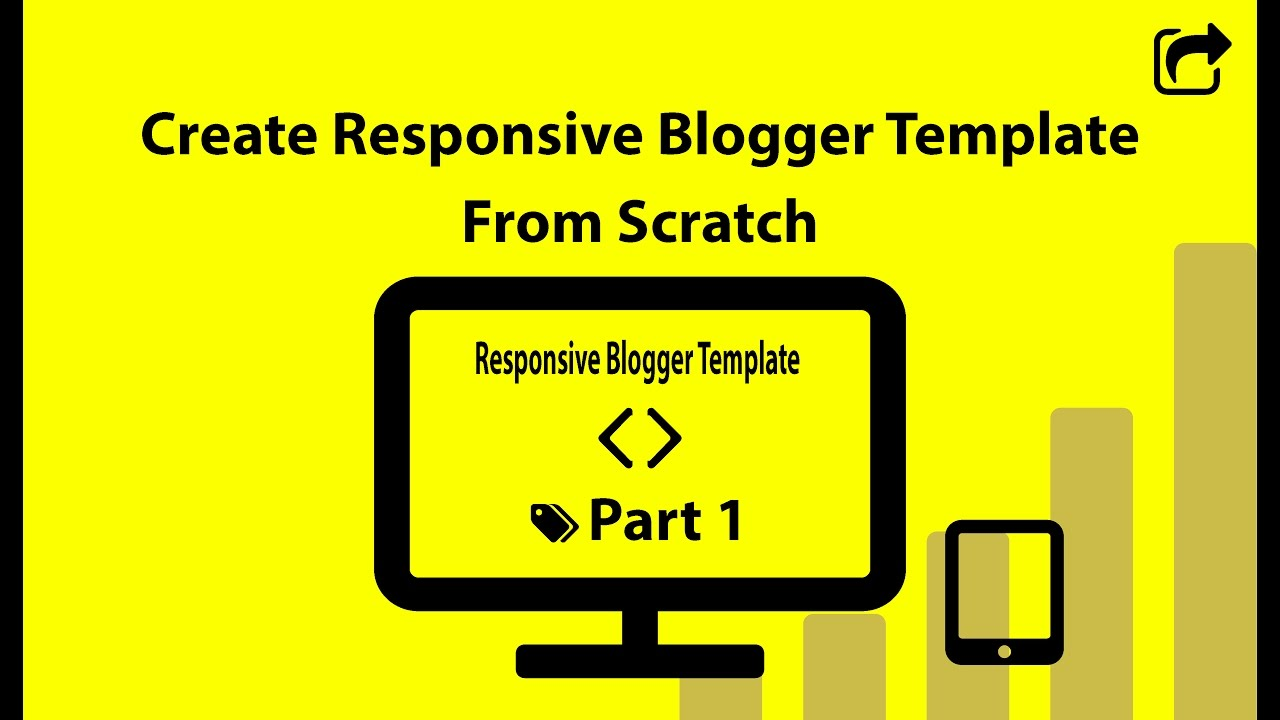 Create Responsive Blogger Template from Scratch (Part 1) - YouTube