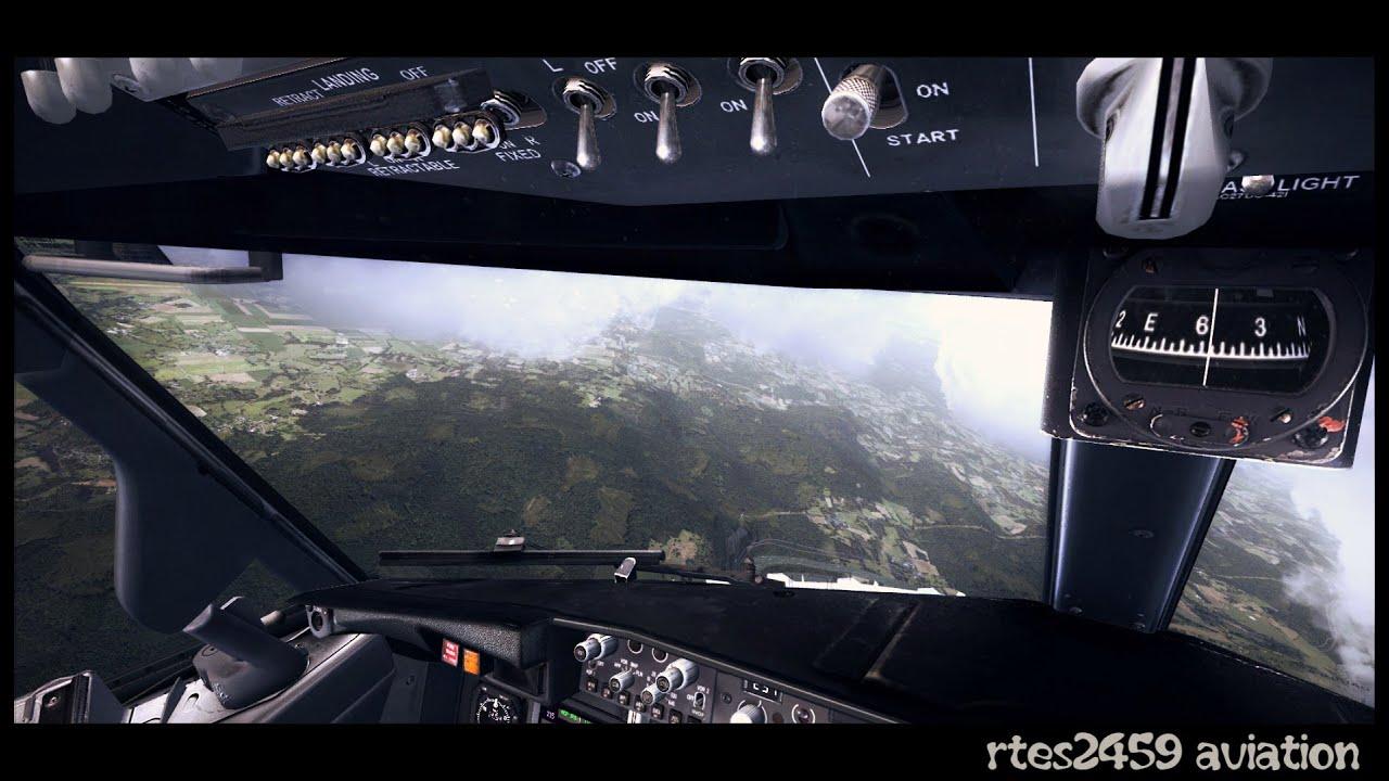 Flight Simulator X FSX HD Maxed Out Graphics 2016 / PMDG NGX landing!