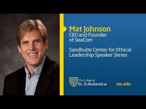 Sandbulte Center for Ethical Leadership Speaker Series: Mat Johnson