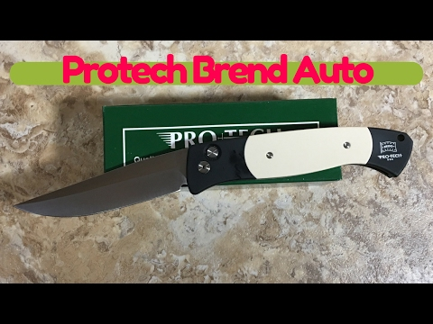 Protech large Walter Brend #1 design Tuxedo Automatic knife with 154CM blade ...It's HUGE !!!!