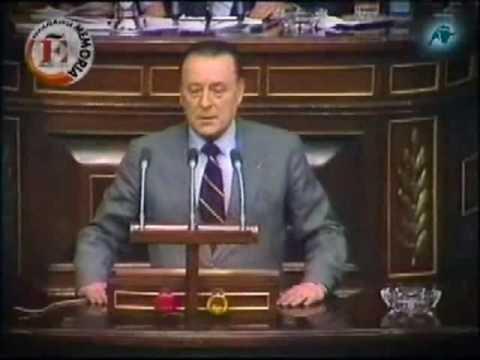 Blas Piñar en la Sesión de Investidura de Calvo Sotelo