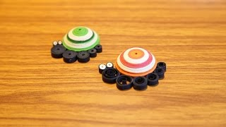 How To Make Cute Quilling Snails Using Paper Art Quilling
