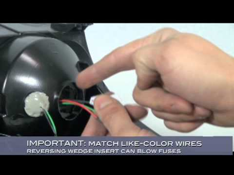 Spyder Auto Installation How To Wire LED Tail Lights Overview - YouTube