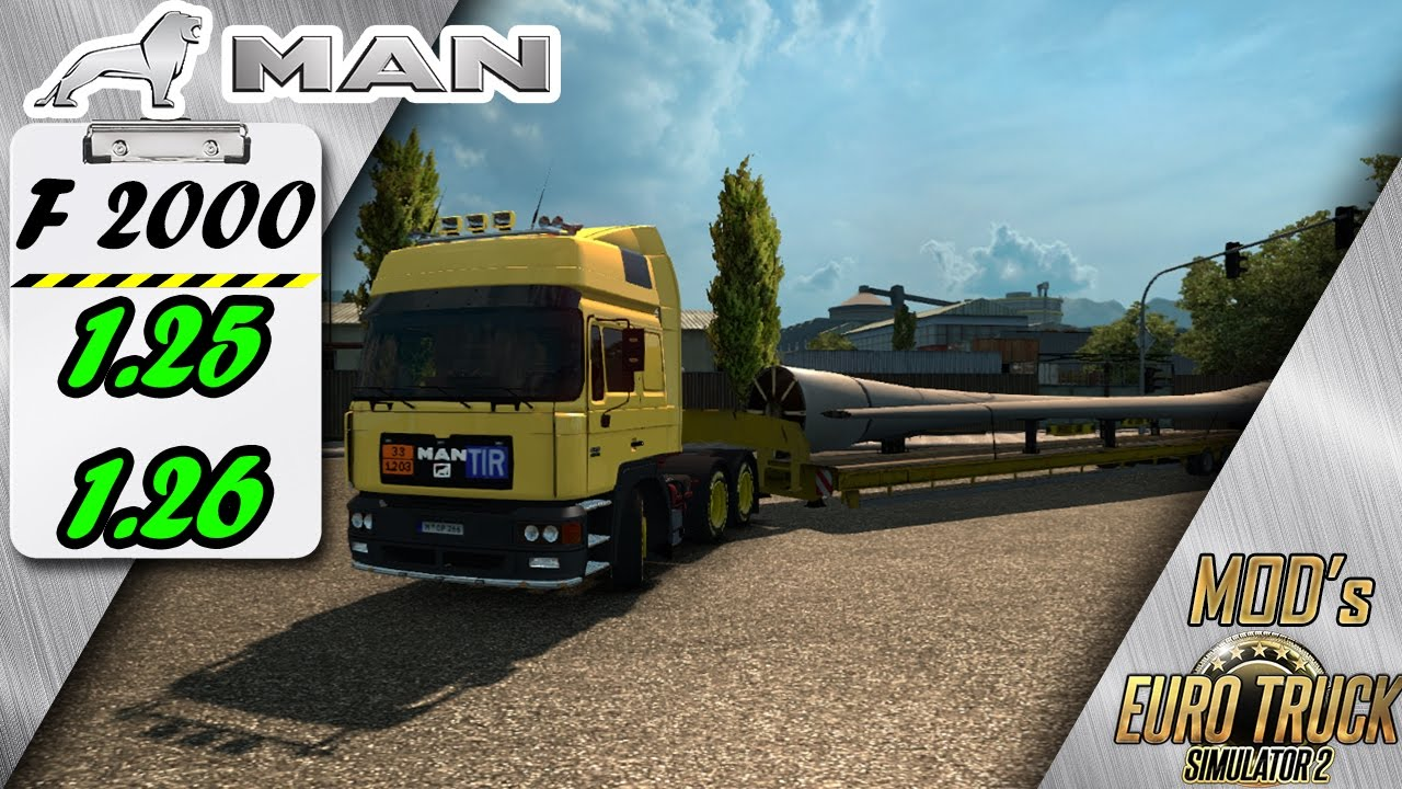 Man F2000 Oversize Trailers For 1 25 1 26 Free Download Ets2