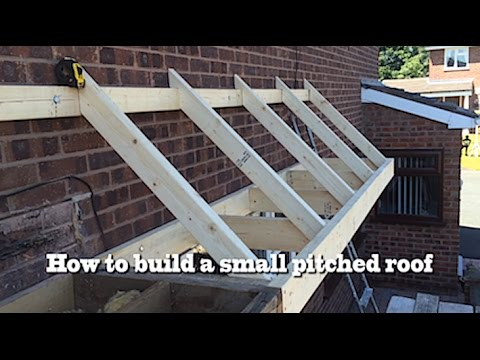 How to build a small pitched roof 2 youtube for How to build a sloped roof shed