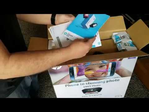 Unboxing e instalación impresora hp envy 6200 6230 en español