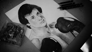 Drawing Rocky Balboa (Sylvester Stallone)