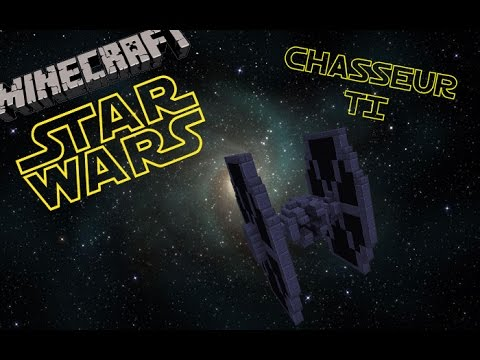 Camera Caché Star Wars : Minecraft tuto chasseur tie fighter star wars youtube