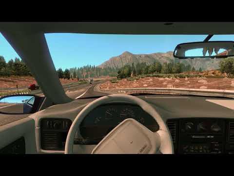 Retro Chevrolet Impala Car Mod - American Truck Simulator - Driving Old Vintage Interior