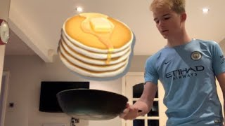 I TRIED TO FLIP A PANCAKE! (Gone Wrong)