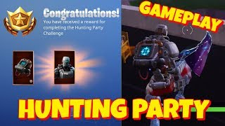 HUNTING PARTY SKIN + KILL COUNTER BACKBLING GAMEPLAY IN FORTNITE