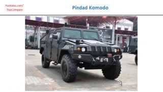 RG-33 vs Pindad Komodo, wheeled armoured vehicle 4x4 all specs