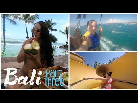 BALI VLOG - Part 3 ♡ Parasailing, Waterbom & Beaches!