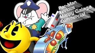 Pac-Man Xevious Mappy Galaga Commercial