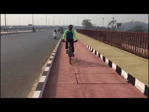 Cycling Lanes on NH 24, Thanks Gadkari ji. Green Shakti Foundation