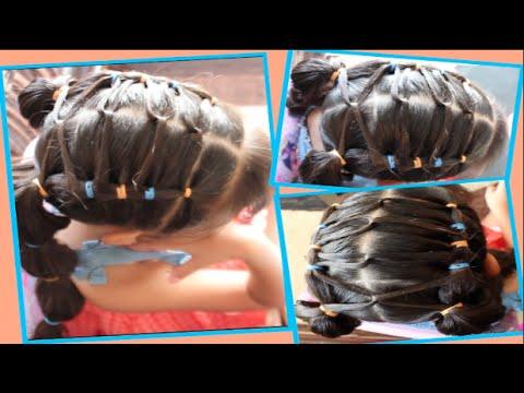 Peinado para ni a facil con cabellos cruzados y trenza de - Peinados bonitos para ninas ...