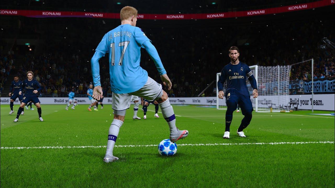 PES 2020 Gameplay | Man City  vs Real Madrid - UCL