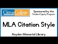 MLA Citation Style 8th edition HD