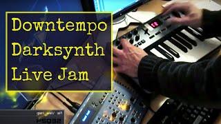 Live synth jam #1: Dark ambient, Darkwave. Novation Nova, seq24, Hydrogen Drums.