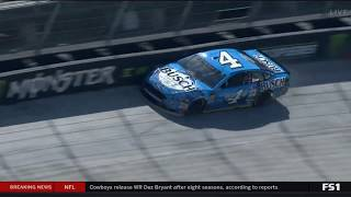Monster Energy NASCAR Cup Series 2018. FP1 Bristol Motor Speedway. Kevin Harvick Failure Crash