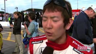 Newman/Haas Racing driver Hideki Mutoh talks about qualifying at Kansas Speedway.