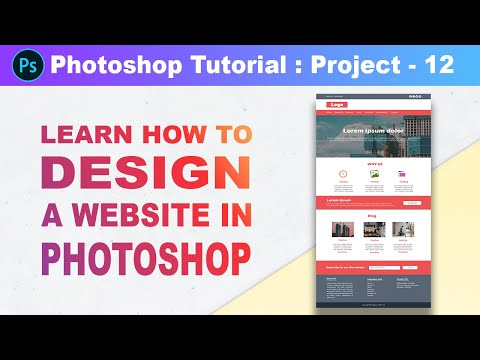 How to design a Website template in Photoshop - Photoshop Tutorial in Hindi [Part 56] [Project 12]