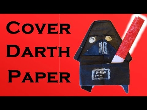How To Make A Origami Cover Darth Paper