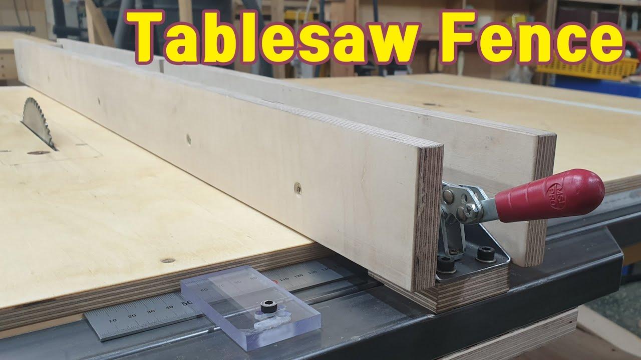 테이블쏘 조기대 만들기 / Make a Tablesaw Fence