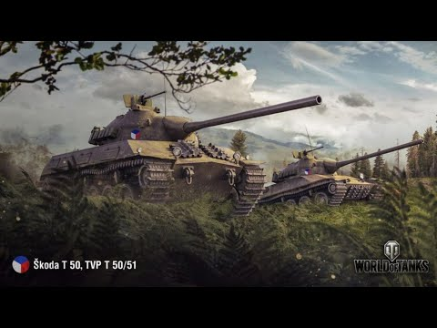 Танкосмотр2019 #37. Чехия. Средние танки (веткa TVP T 50/51) | World Of Tanks
