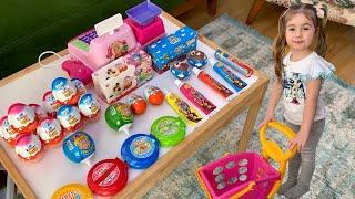 Evde Market Alışverişi Çikolata Abur Cubur Alışverişi Çocuk Videosu Funny  Kids Video